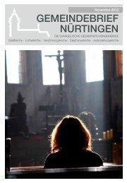 November 2012 - Evangelische Gesamtkirchengemeinde Nürtingen