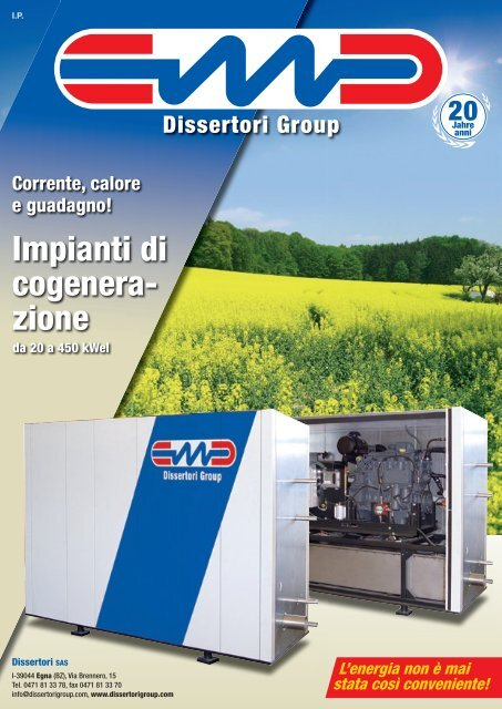 Scarica la scheda tecnica dei motori a biomasse - Tecno Energysun