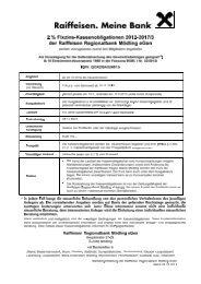 weitere informationen zur Kassenobligation - RRB Mödling