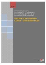 II ciklus studija - Fakultet za saobraćaj i komunikacije