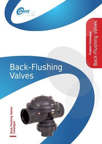 Back-Flushing Valves - Dorot Control Valves