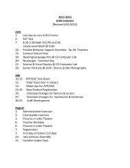 2012-2013 JCHS Calendar (Revised 6/01/2012) June 1: Last day to ...