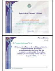 Ingeniería de Procesos Software - Grupo Alarcos - Universidad de ...