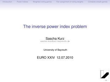 The inverse power index problem