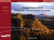 Management kategorie chráněných území dle IUCN