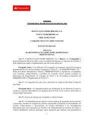 Estatuto Social - Santander