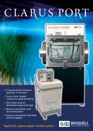 Clarus L Hydrogen Peroxide Vapour Generator - ENVAIR Deutschland