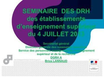 Les principales dispositions de la loi ESR en matière de gestion des ...