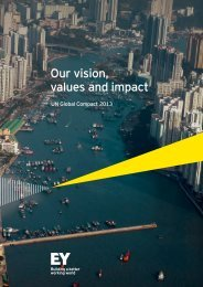 Our vision, values and impact - UN Global Compact 2013