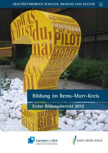 Exkurs - Landratsamt Rems-Murr-Kreis