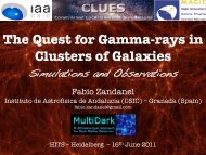 The Quest for Gamma-rays in Clusters of Galaxies: Simulations and ...