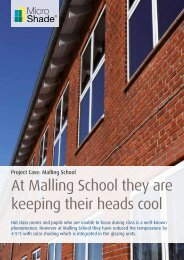 At Malling School they are keeping their heads cool - MicroShade ...