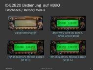 IC-E2820 Bedienung auf HB9O - HB9THJ