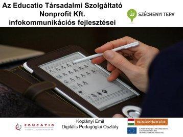 Az Educatio Társadalmi Szolgáltató Nonprofit Kft ... - Infotér