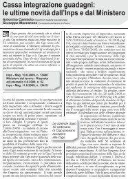 Cassa integrazione guadagni: le ultime novità dall ... - UILA Potenza