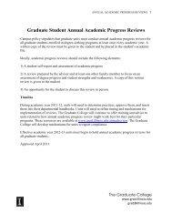 Graduate Student Annual Academic Progress Reviews