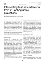 Intersecting features extraction from 2D orthographic ... - GRACO