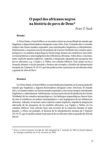 Vol. 42, n. 1, 2002 - Faculdades EST