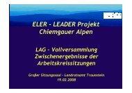 ELER - LEADER Projekt Chiemgauer Alpen - LAG Chiemgauer Alpen