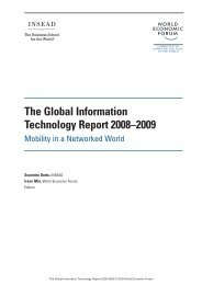 The Global Information Technology Report 2008–2009. Mobility in a ...