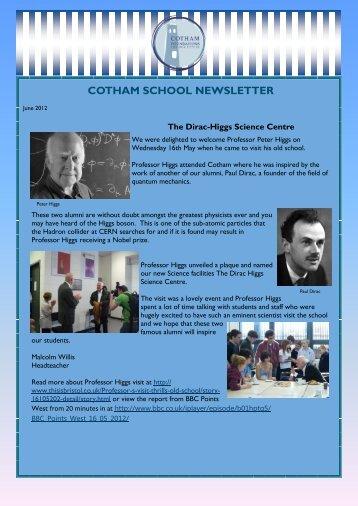 June 2012 - Cotham School