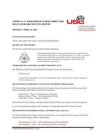 2013-04-22 Board Meeting Agenda.docx - Upper St. Clair School ...