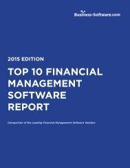 TOP 10 Financial ManageMenT SOFTWaRe RePORT