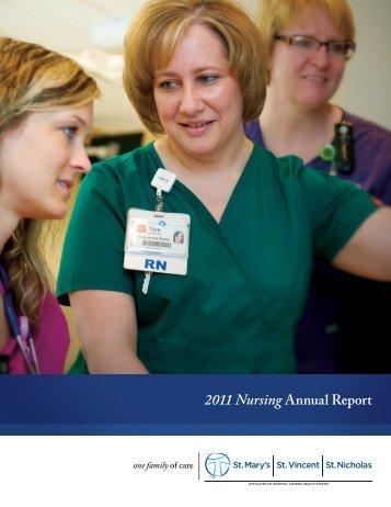 2011 Nursing Annual Report (PDF) - St. Nicholas Hospital