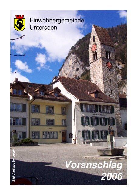 Voranschlag 2006 - Unterseen