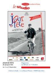 JOUR DE FÊTE Programme de Jacques Tati du 28 Août au 1er ...