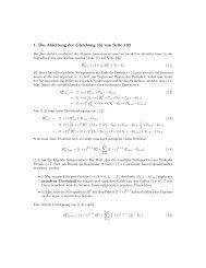 1. Die Ableitung der Gleichung (6) von Seite 132