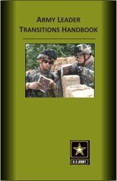 army leader transitions handbook - The USARAK Home Page - U.S. ...
