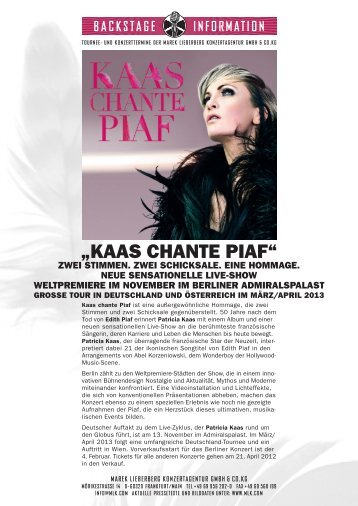 Patricia Kaas Pressetext 2012.pdf - Marek Lieberberg Konzertagentur