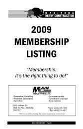 MEMBERSHIP LISTING - Manitoba Heavy Construction Association