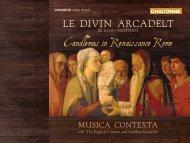 Candlemas in Renaissance Rome Le Divin ArcADeLt - Chandos
