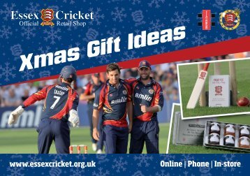 xmas flyer v6 - Essex Cricket