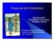 FINANCIAL AID NIGHT Presentation, January 10, 2013