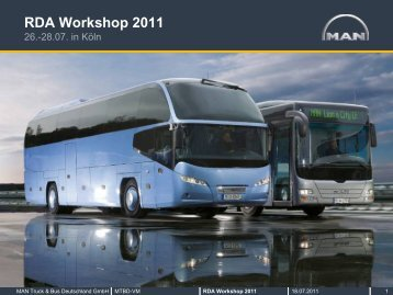 RDA Workshop 2011 - MAN Truck & Bus Deutschland