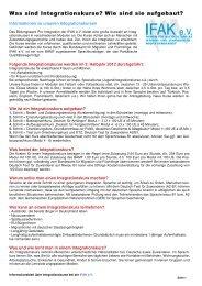Informationen zum Ablauf - IFAK e.V.