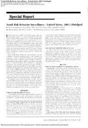 Youth Risk Behavior Surveillance - United States, 2003 (Abridged)