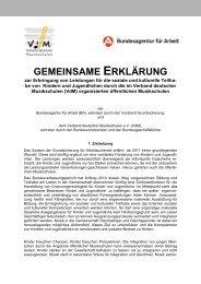 GEMEINSAME ERKLÄRUNG - Miz.org