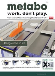 Combination machines, Panel saws, Planer ... - D & M Tools