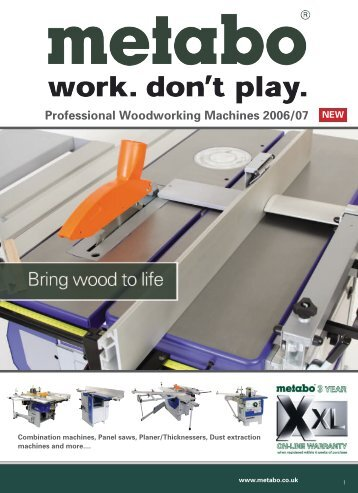 Combination machines, Panel saws, Planer ... - D & M Tools