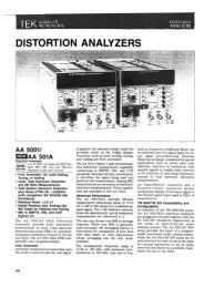 DISTORTION ANALYZERS - Helmut Singer Elektronik