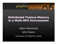 Distributed Texture Memory in a Multi-GPU Environment - Graphics ...