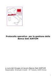 Protocollo banca dati 1.0 - Associazione Italiana Registri Tumori