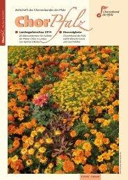 Zeitschrift des Chorverbandes der Pfalz - Chorverband der Pfalz eV