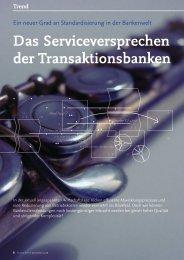 Das Serviceversprechen der Transaktionsbanken - solutionproviders