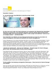Interview Dr. Harald Schönfeld Moneycab 2008 Mai - butterflymanager