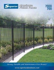 Aluminum Picket Fence - Superior Aluminum Products